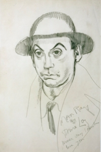 Portrait of Man Ray -  inscribed, Never say I don't love you, circa 1925