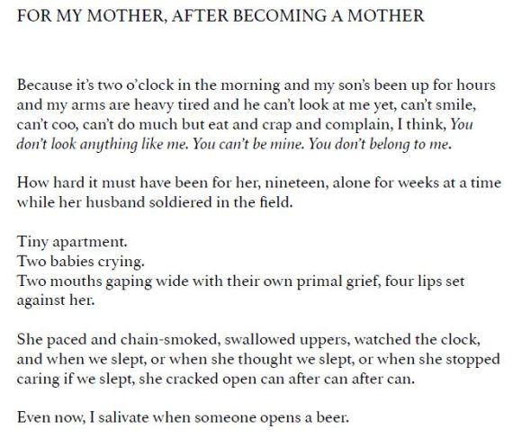 For My Mother, After Becoming a Mother