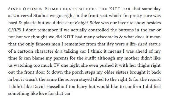 Since Optimus Prime counts so does the KITT car